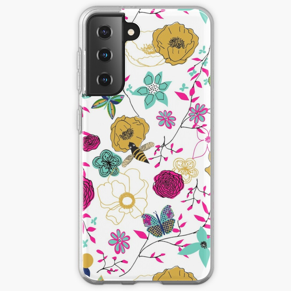Bees and Butterflies Case & Skin for Samsung Galaxy