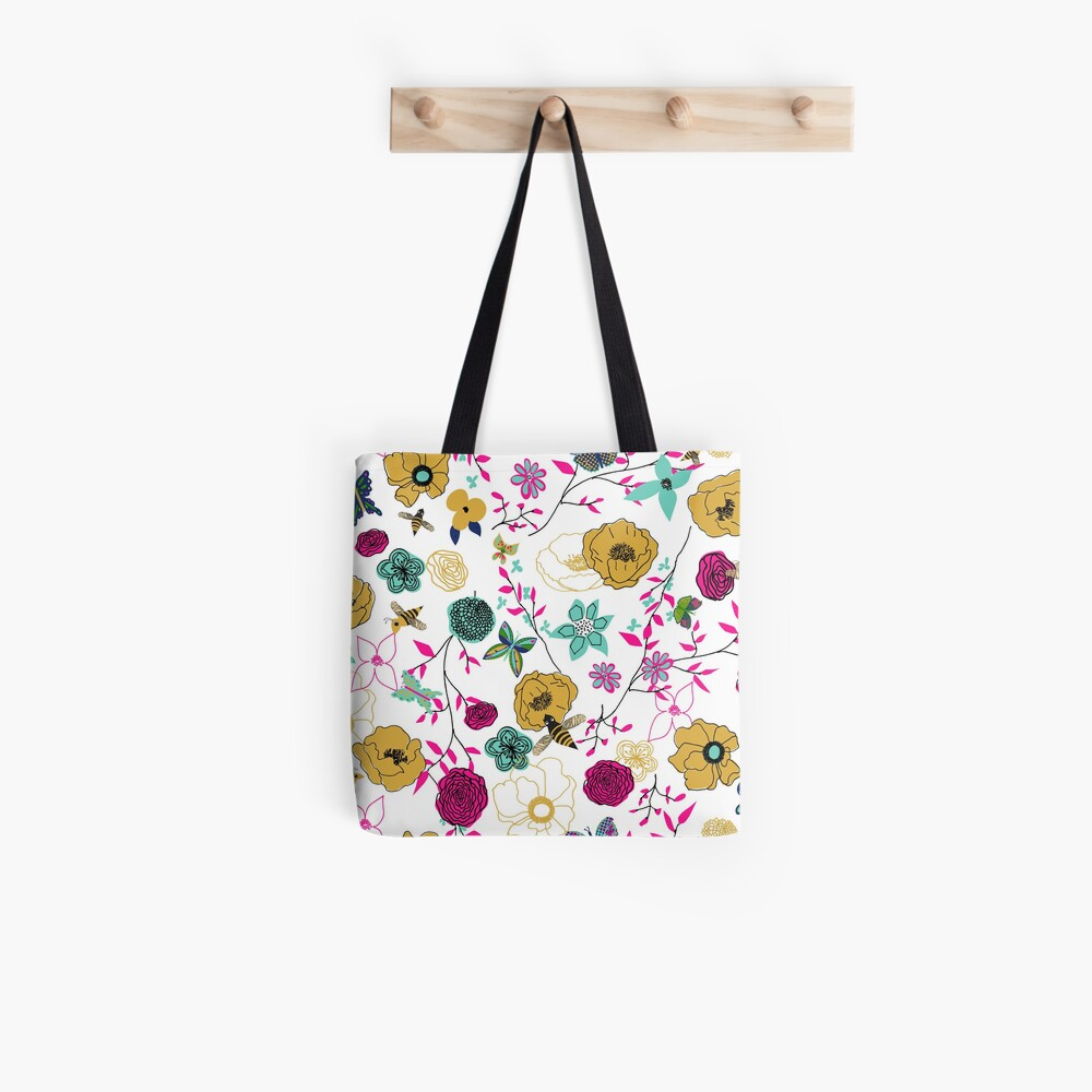 Bees and Butterflies Tote Bag