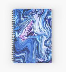 Ocean Swirls - Blue Planet Abstract Modern Art Spiral Notebook