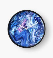 Ocean Swirls - Blue Planet Abstract Modern Art Clock