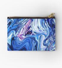 Ocean Swirls - Blue Planet Abstract Modern Art Studio Pouch