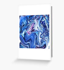 Ocean Swirls - Blue Planet Abstract Modern Art Greeting Card