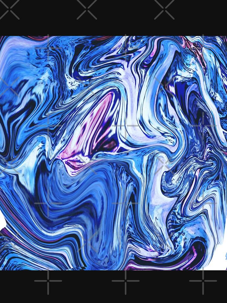 Ocean Swirls - Blue Planet Abstract Modern Art by OneDayArt