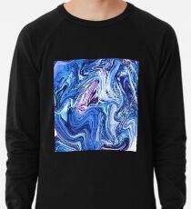 Ocean Swirls - Blue Planet Abstract Modern Art Lightweight Sweatshirt