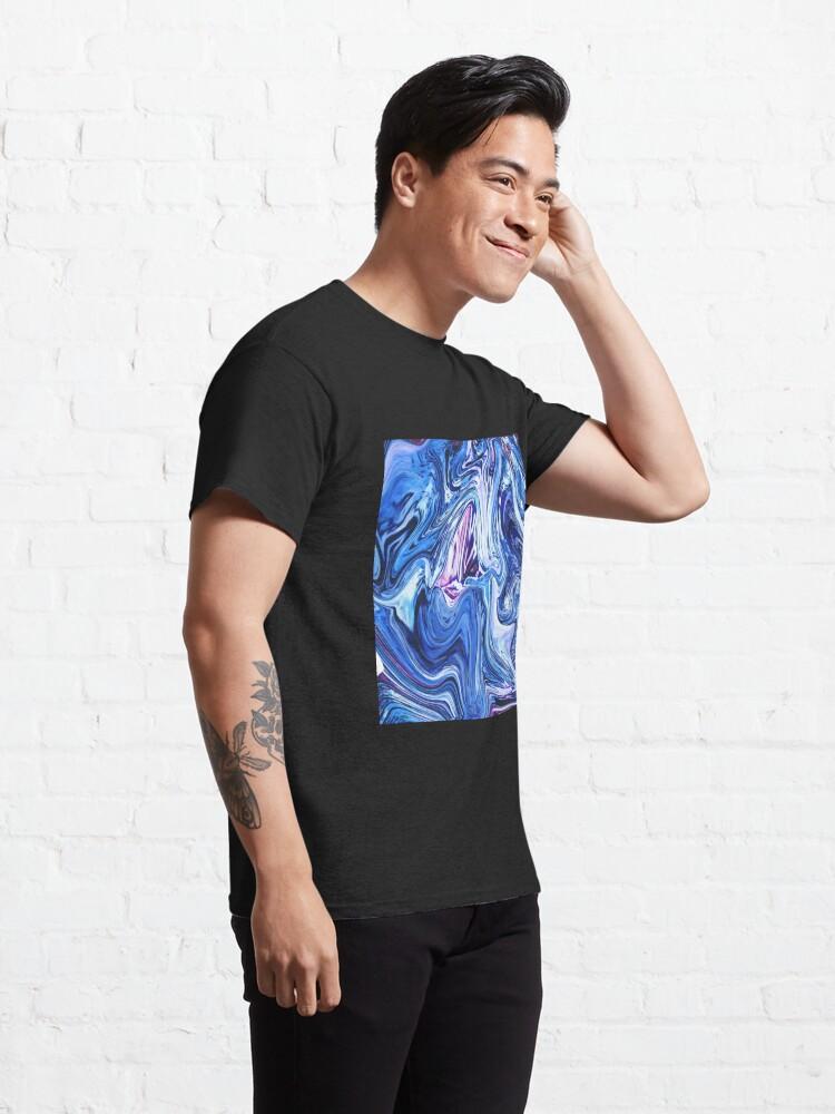 Alternate view of Ocean Swirls - Blue Planet Abstract Modern Art Classic T-Shirt