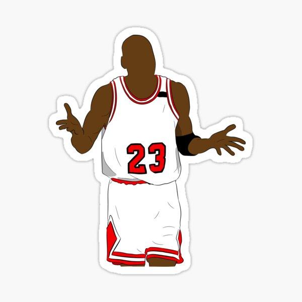 Michael Jordan Shrug Sticker