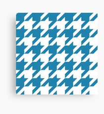 Blue Large Houndstooth Canvas Print
