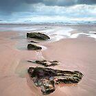 Schritte ins Blaue (Watergate Bay, Cornwall) von Andrew Hocking