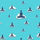 Yoga Sky Clouds Meditation design. by EthosWear