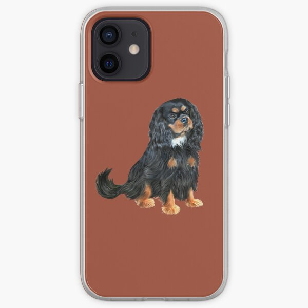 Cavalier King Charles Spaniel (black and tan) iPhone Soft Case