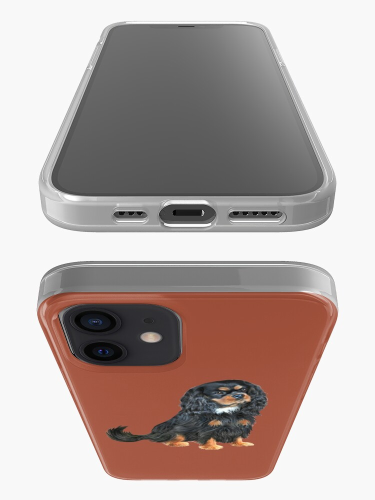 Alternate view of Cavalier King Charles Spaniel (black and tan) iPhone Case & Cover