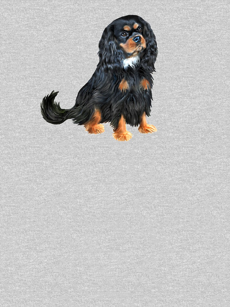 Cavalier King Charles Spaniel (black and tan) by JeanBFitzgerald