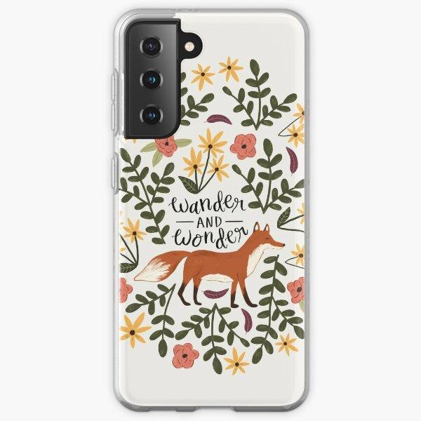 Fox and Florals - Wander and Wonder Samsung Galaxy Soft Case