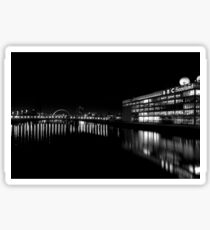 BBC Scotland and the Clyde at Night Sticker