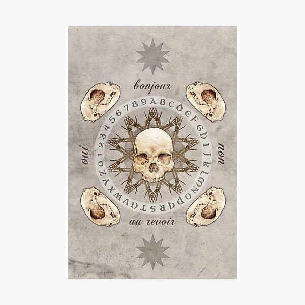 Ouija & Bones Photographic Print