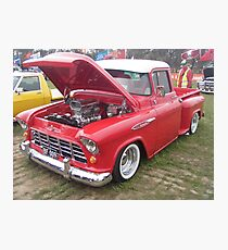 The red chevy ute Photographic Print