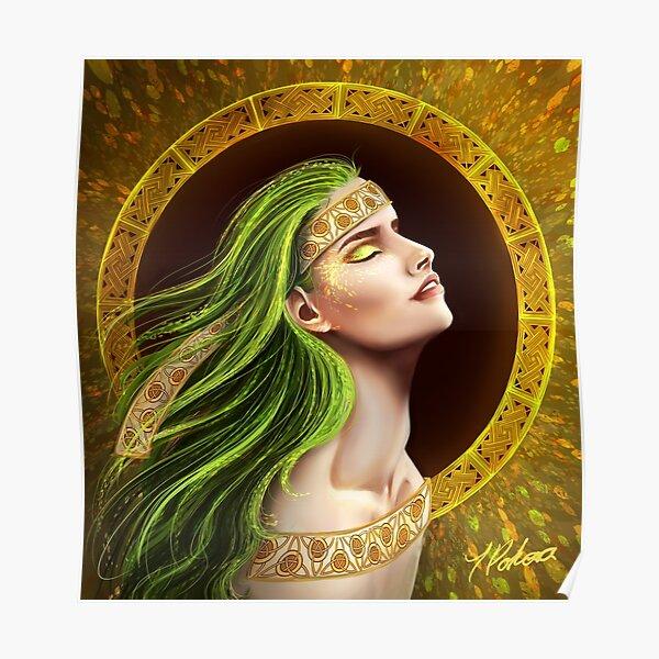 Autumn Celtic lady Poster