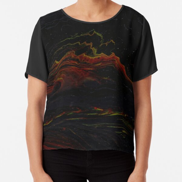 Fountain of abstract lava Chiffon Top