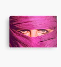 """Pink Pashmina"" (self portrait) Metal Print"