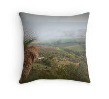 Foggy Morning on Mt Barker Summit Throw Pillow