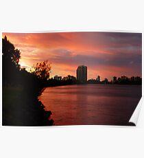 Tweed River Sunset Poster