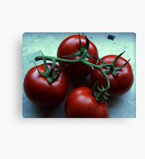 These tomatoes want to become a salad Canvas Print
