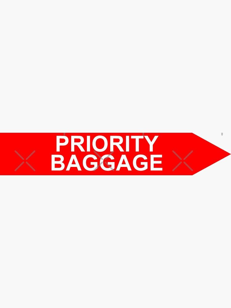 Priority Baggage Red by AvGeekCentral