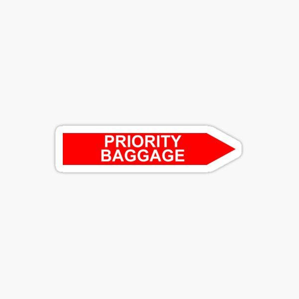 Priority Baggage Red Sticker