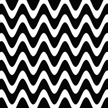 Patrón de onda simple blanco y negro de cadinera