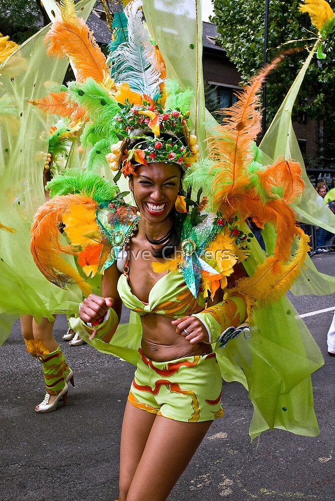Dancer from the Paraiso School of Samba by Clive  Chilvers