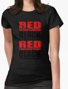 Red & Black Womens Fitted T-Shirt