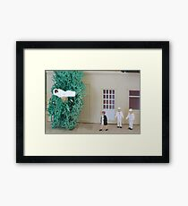 Hospital crowding was getting ridiculous with overcrowded rooms and patients in the hall; there was even one flu over the cuckoo's nest! Framed Print