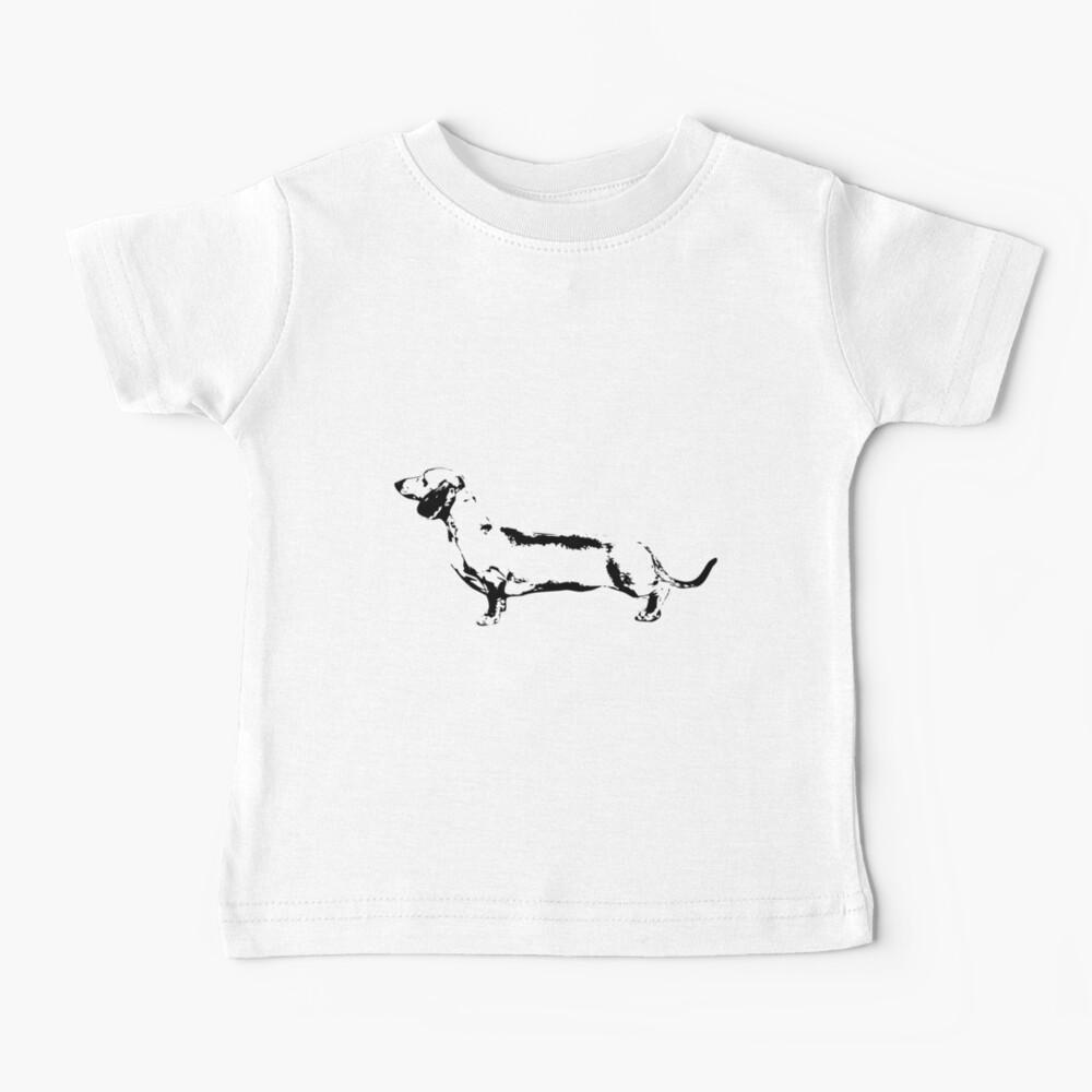 Dachshund Monogram Baby T-Shirt