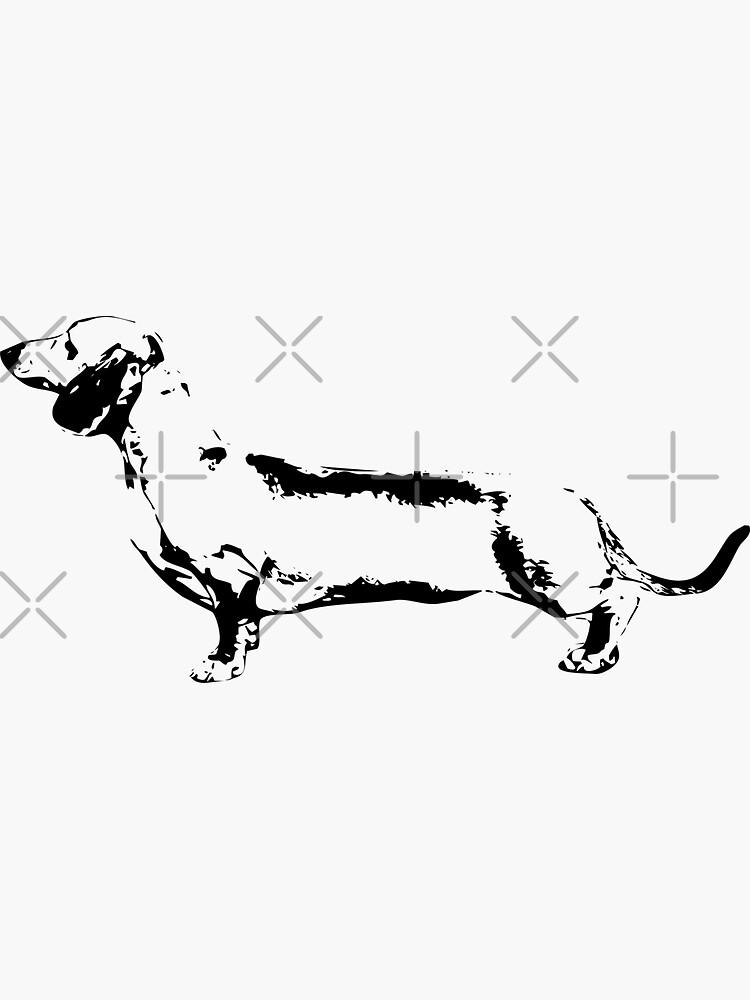 Dachshund Monogram by tribbledesign
