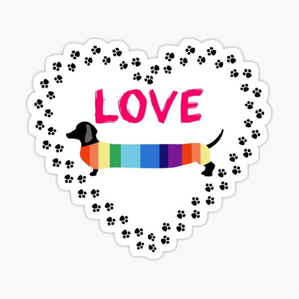 Love Dachshunds Sticker