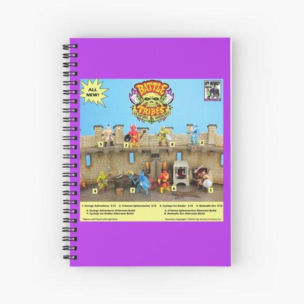 Battle Tribes Retro Catalog Spiral Notebook