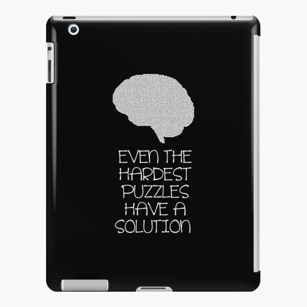 Expert Puzzle Hard Puzzles Have a Solution product iPad Snap Case