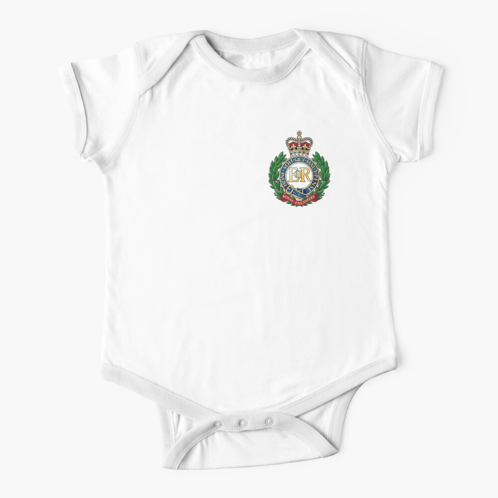Royal Engineers Cap Badge Baby One-Piece