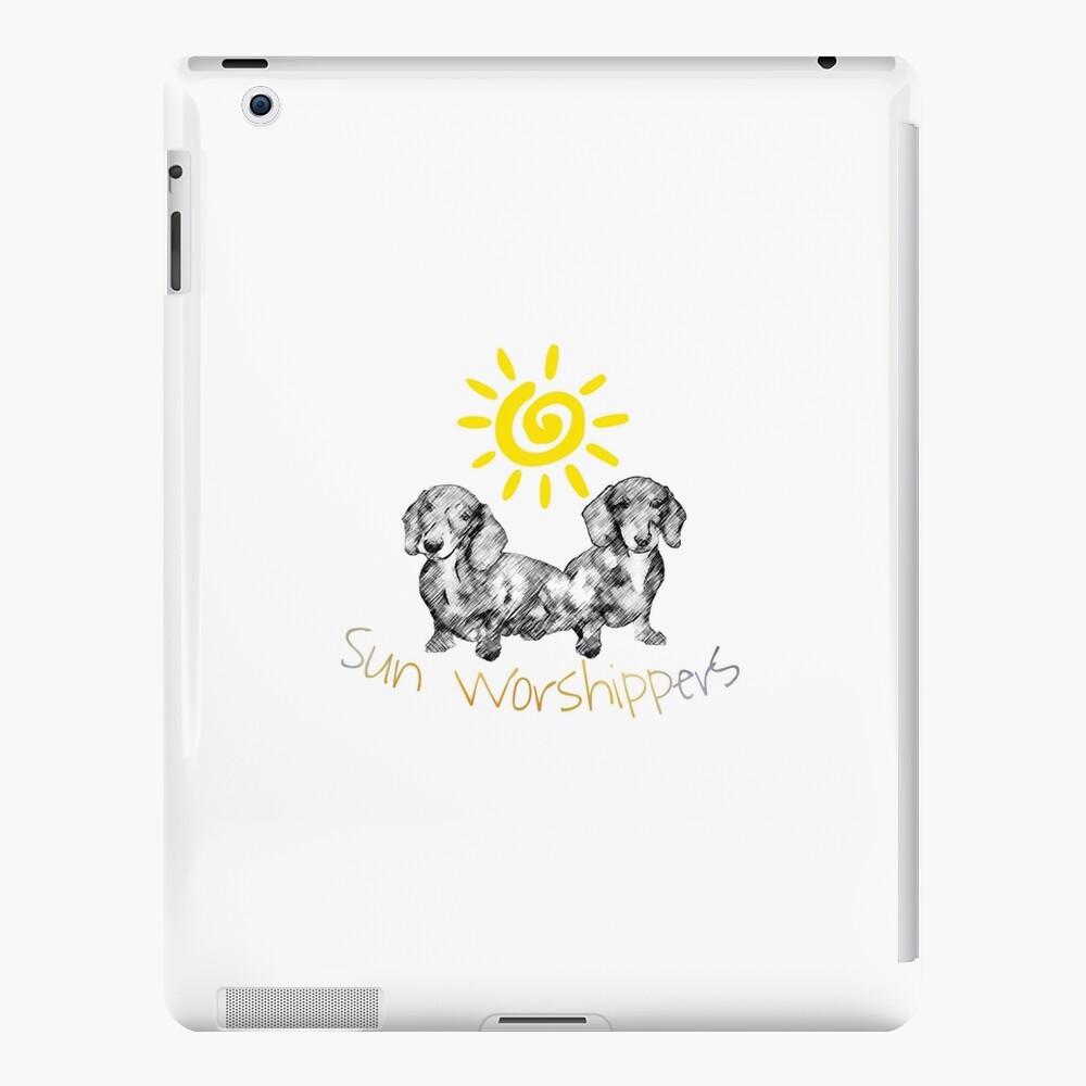 Dachshunds Sun Worshippers iPad Case & Skin