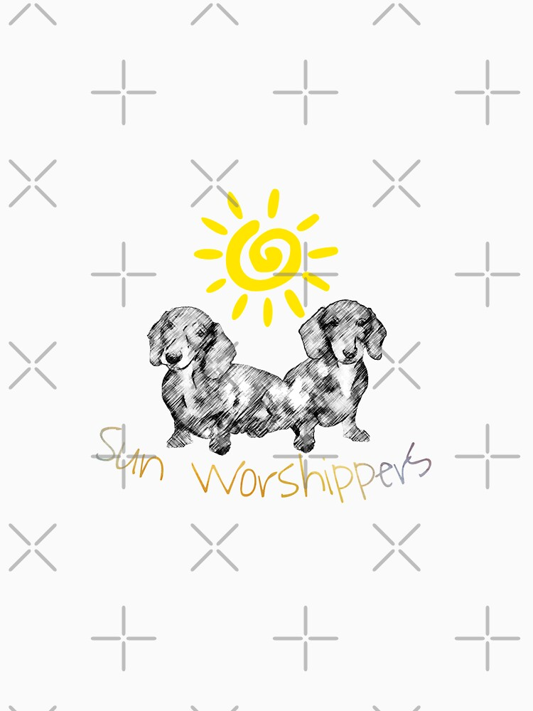 Dachshunds Sun Worshippers by tribbledesign