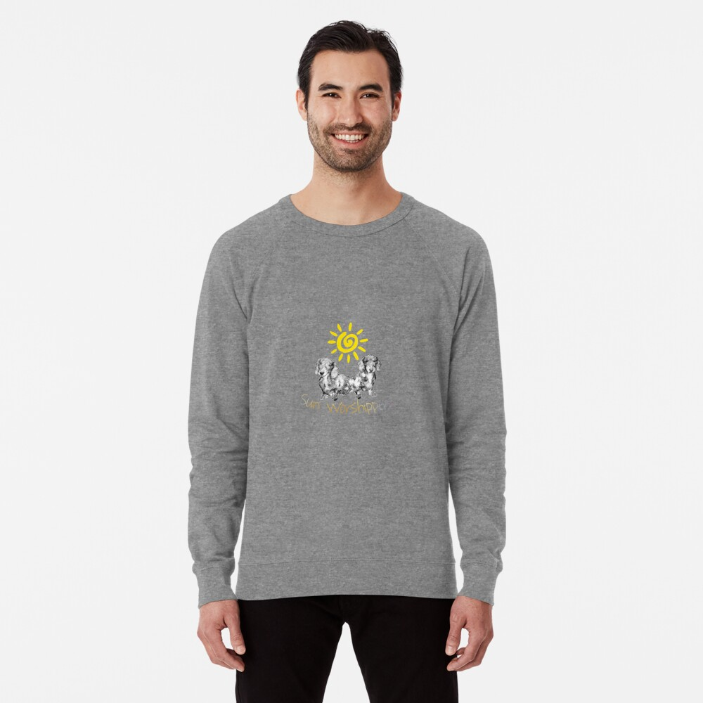Dachshunds Sun Worshippers Lightweight Sweatshirt