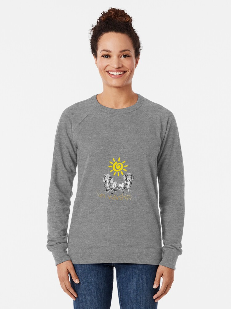 Alternate view of Dachshunds Sun Worshippers Lightweight Sweatshirt