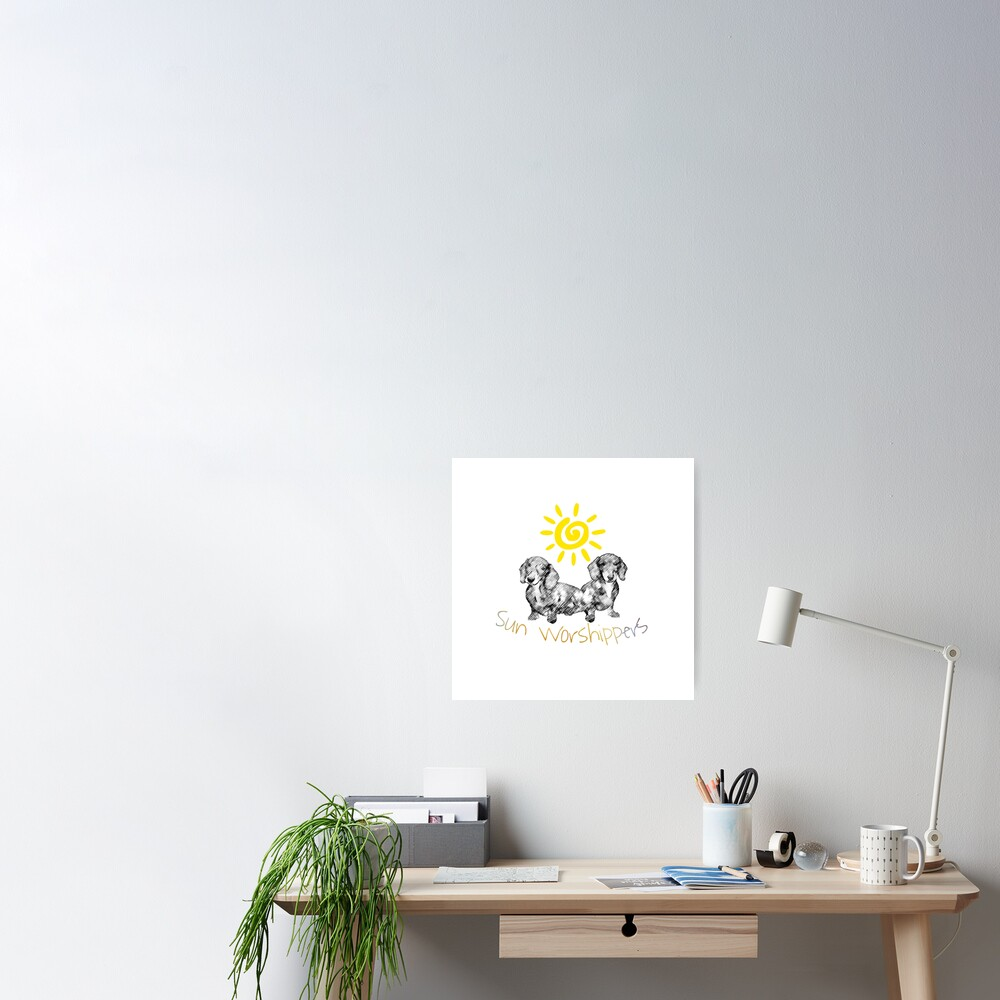 Dachshunds Sun Worshippers Poster