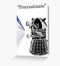 Facebook Procrastinator Greeting Card