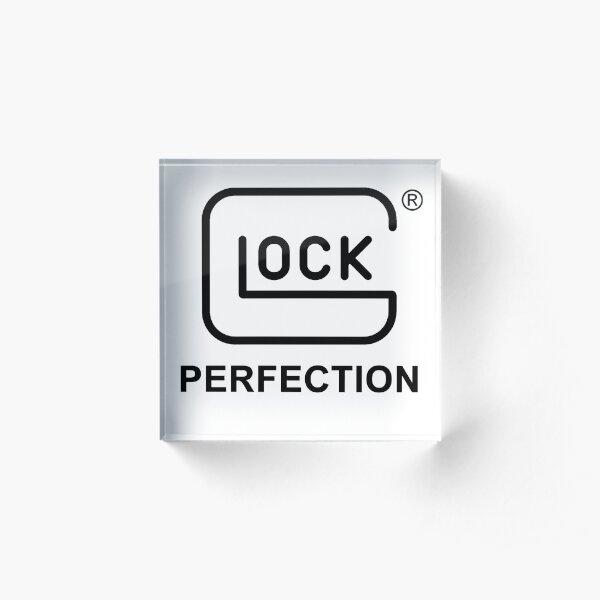Logo Gun Firearm Acrylic Block