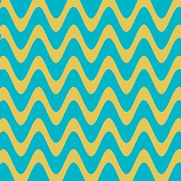 Olas azules y amarillas de cadinera