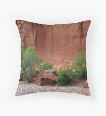 Utah's Red Rock Landscape Throw Pillow