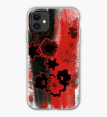 Trash Polka Flowers Abstract  iPhone Case