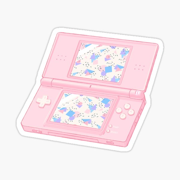 90s Nintendo DS - Pink + White Sticker