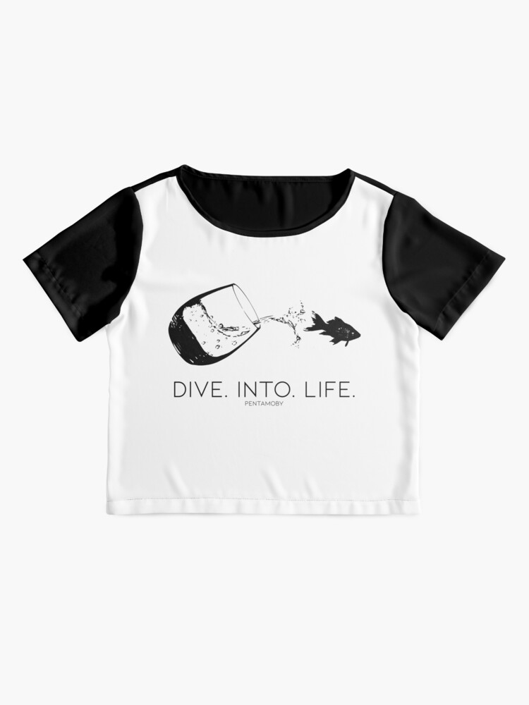 Alternate view of DIVE. INTO. LIFE. (B) Chiffon Top